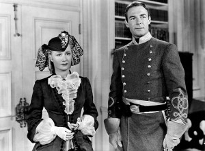 Miriam Hopkins and Randolph Scott