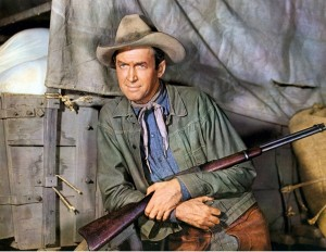 James Stewart in BEND OF THE RIVER (1952). Courtesy Photofest. P