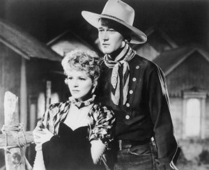 John Wayne and Claire Trevor in