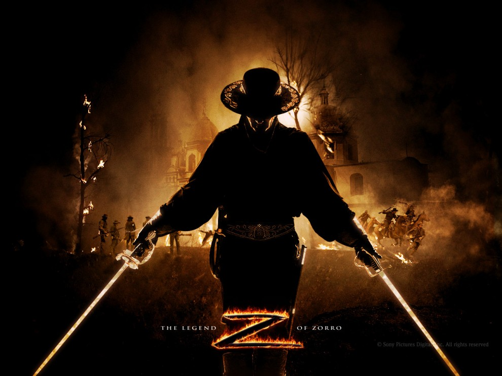 Zorro Antonio Banderas On Horse in The Mask of Zorro was a hit